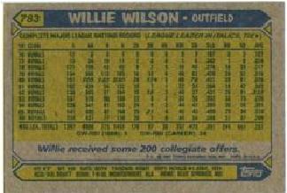 Willie Wilson back 2