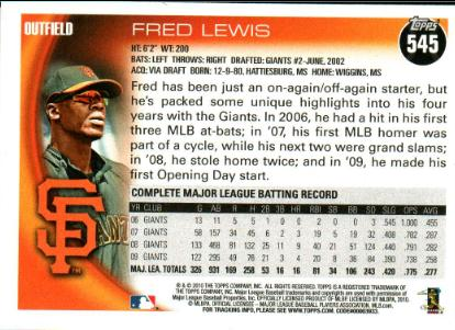 Fred lewis back
