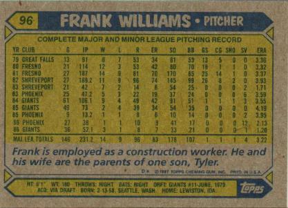 frank williams back
