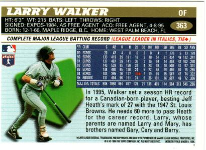Larry walker back