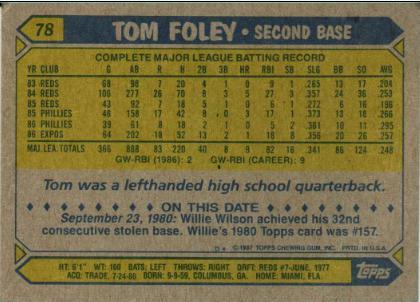 tom foley back
