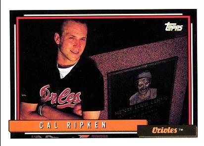 Cal Ripken - 1992 front